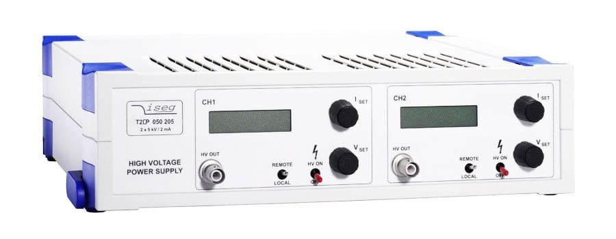 THQ High voltage power supply with 9 W to 12 W CPS converters from Iseg Spezialelektronik GmbH