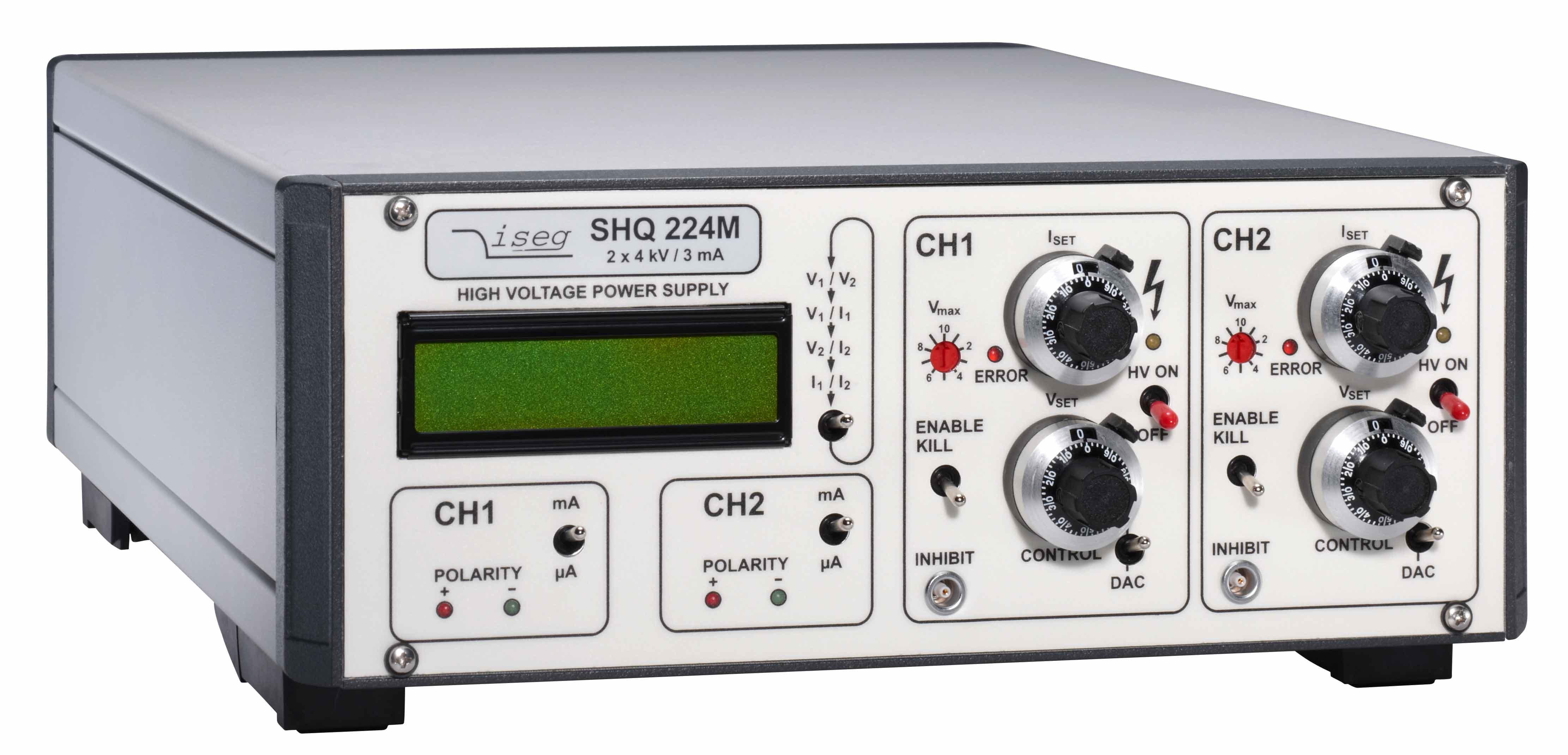 Alimentation haute tension 4 kV 3 mA double voie de sortie modele SHQ precision et stabilité Iseg