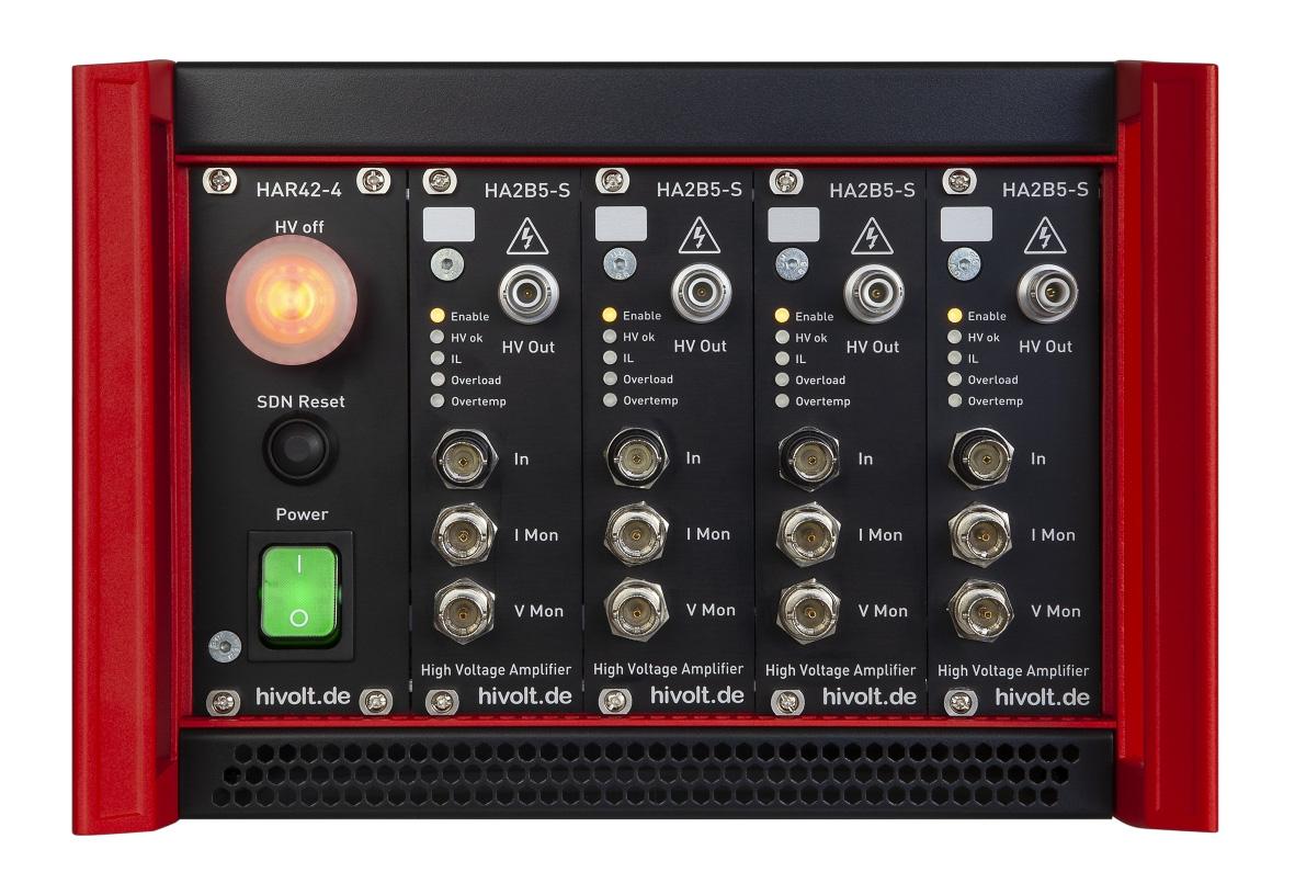 Amplificateur haute tension HA3B3-S avec 4 voies et 3000 V HIVOLT.de