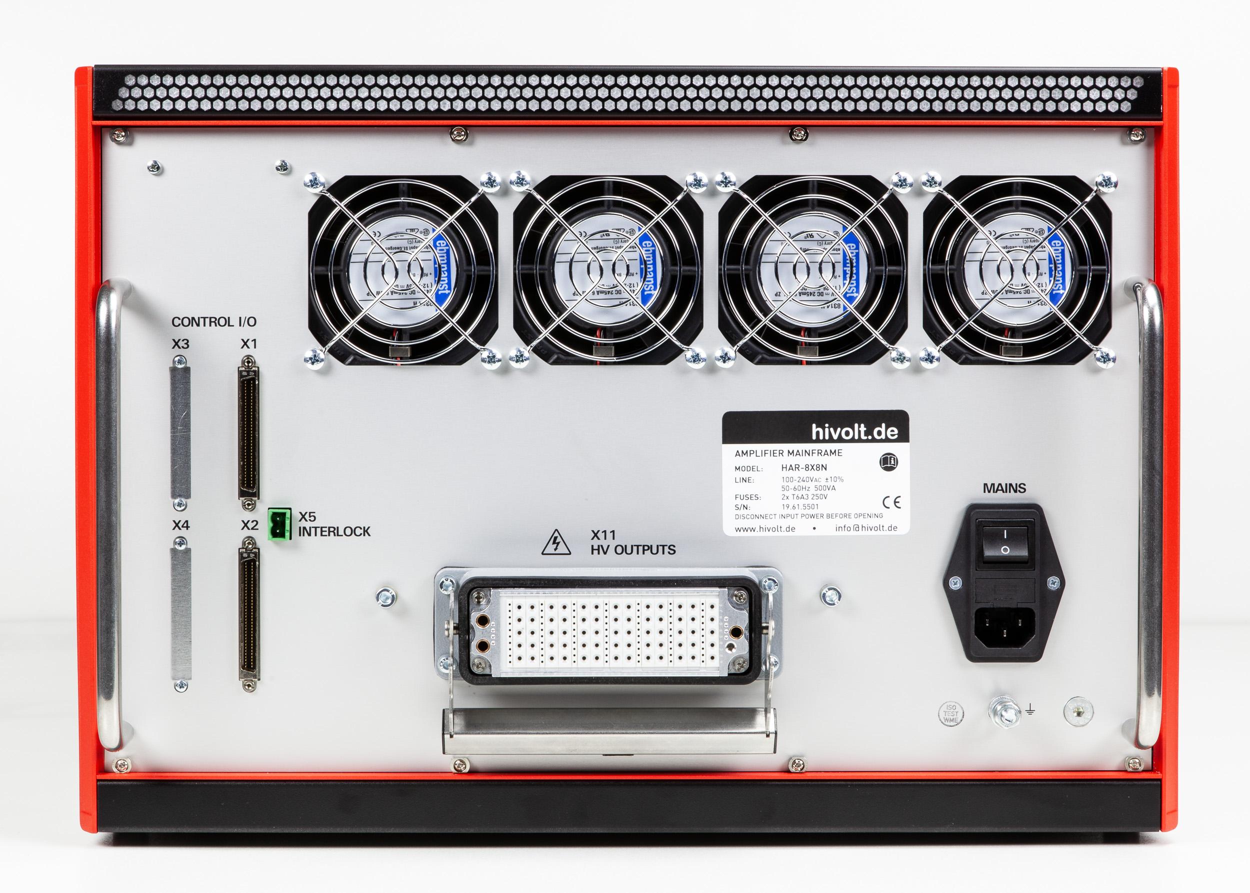 Amplificateur haute tension HAR-8x8A avec 64 voies +/- 600 V HIVOLT.de