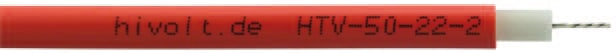Cable haute tension non blinde 50 kV polyethylene HTV-50-22-2 Hivolt