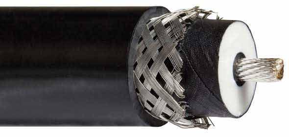 Cable haute tension blinde coaxial 100 kV 2062SVJ Hivolt
