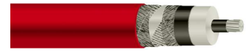 Coaxial shielded high voltage cable