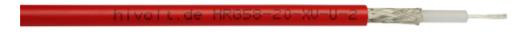 Coaxial shielded high voltage cable HRG58-20-2 Hivolt.de