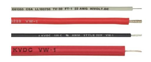 Cable haute tension non blinde 30kV diélectrique silicone HSX series