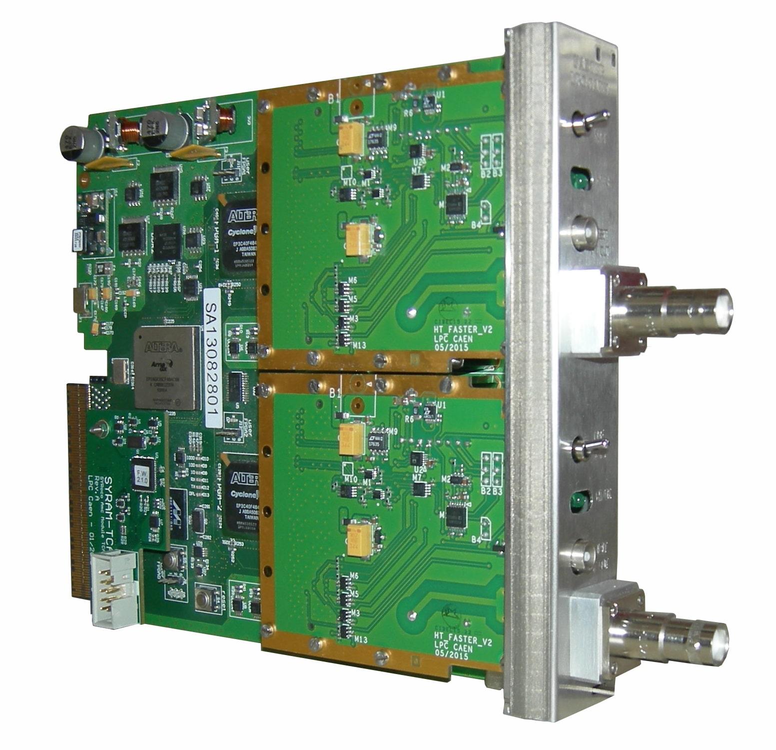 Carte AMC Faster et convertisseur haute tension ISEG serie BPS