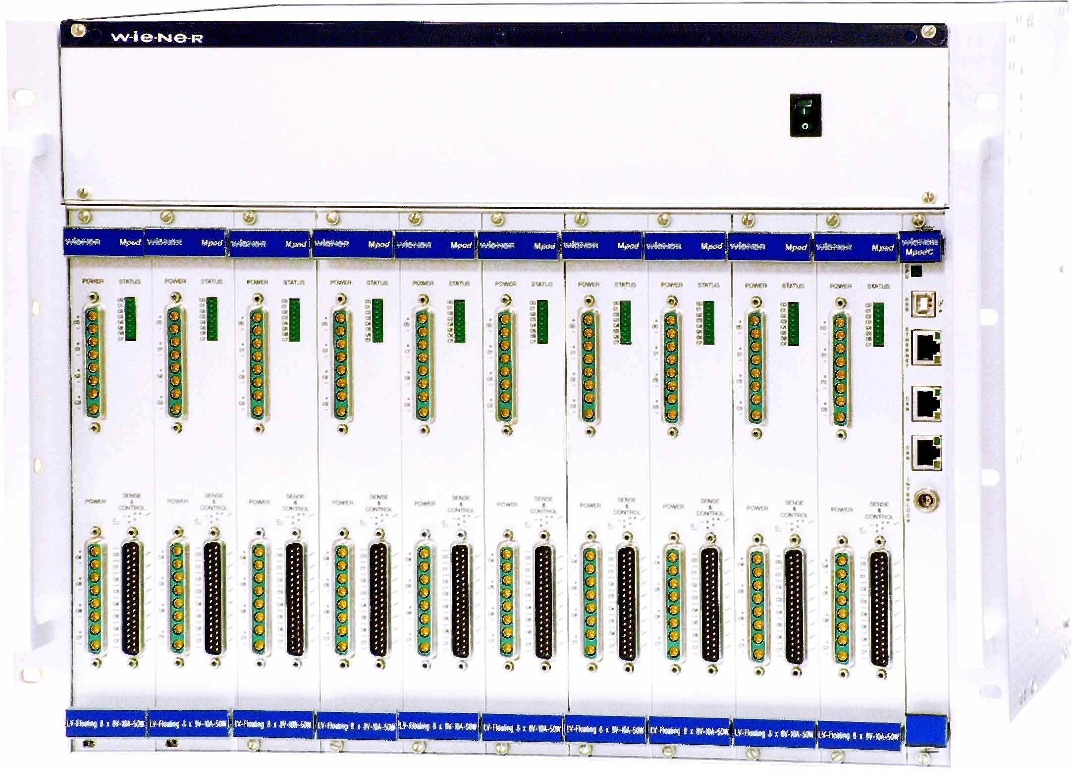 Alimentation DC programmable Mpod de puissance 3 kW et 10 modules basse tension