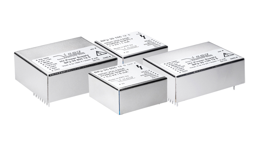 High voltage DC converter for printed board, BPS series, 500 V to 6000 V from ISEG