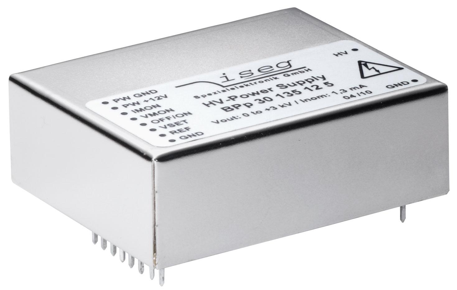 Convertisseur haute tension DC BPS polarite positive 3000 V lecture courant ISEG