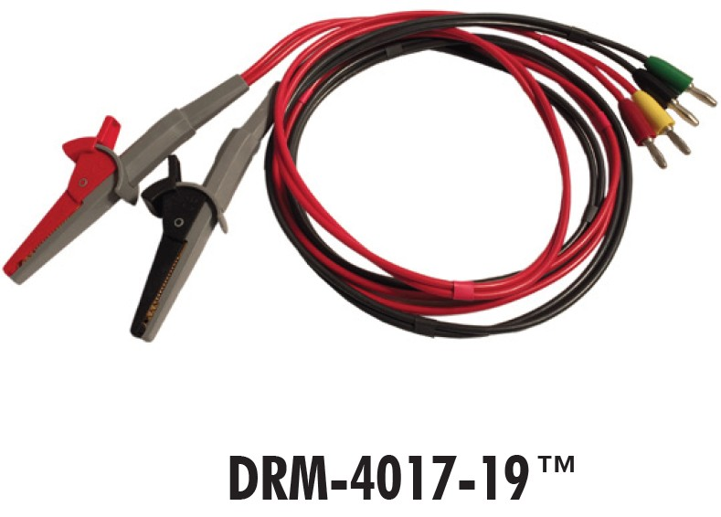 Resistance measuring probe, model DRM-4017-19, 19 mm jaw