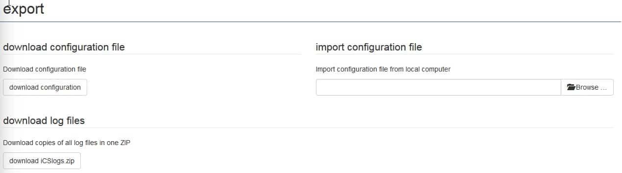 Exportation importation fichiers iCS2
