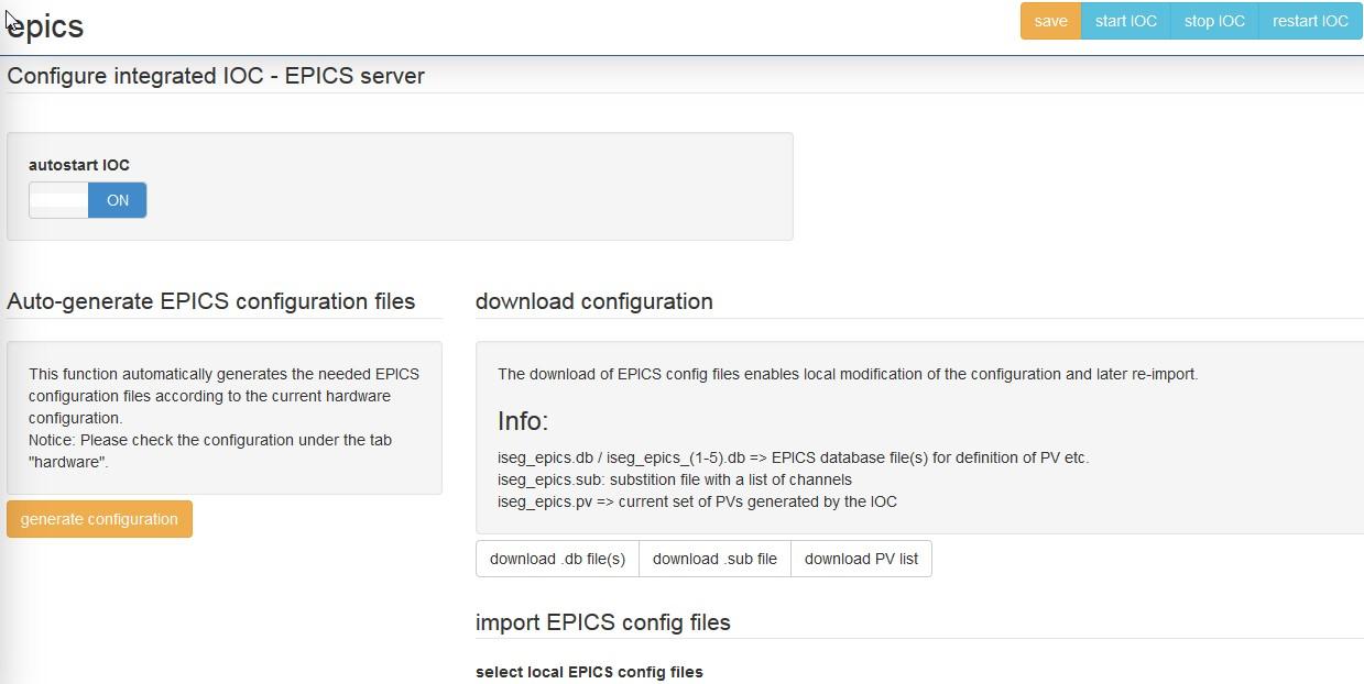 IOC EPICS Server