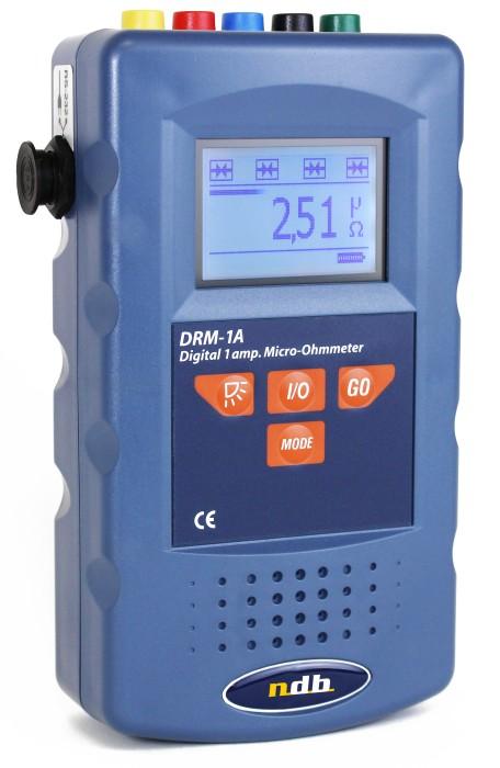 Micro ohmmètre portable 1 A, résolution 1 µOhms, compact, precis, haute resolution NDB Technologie