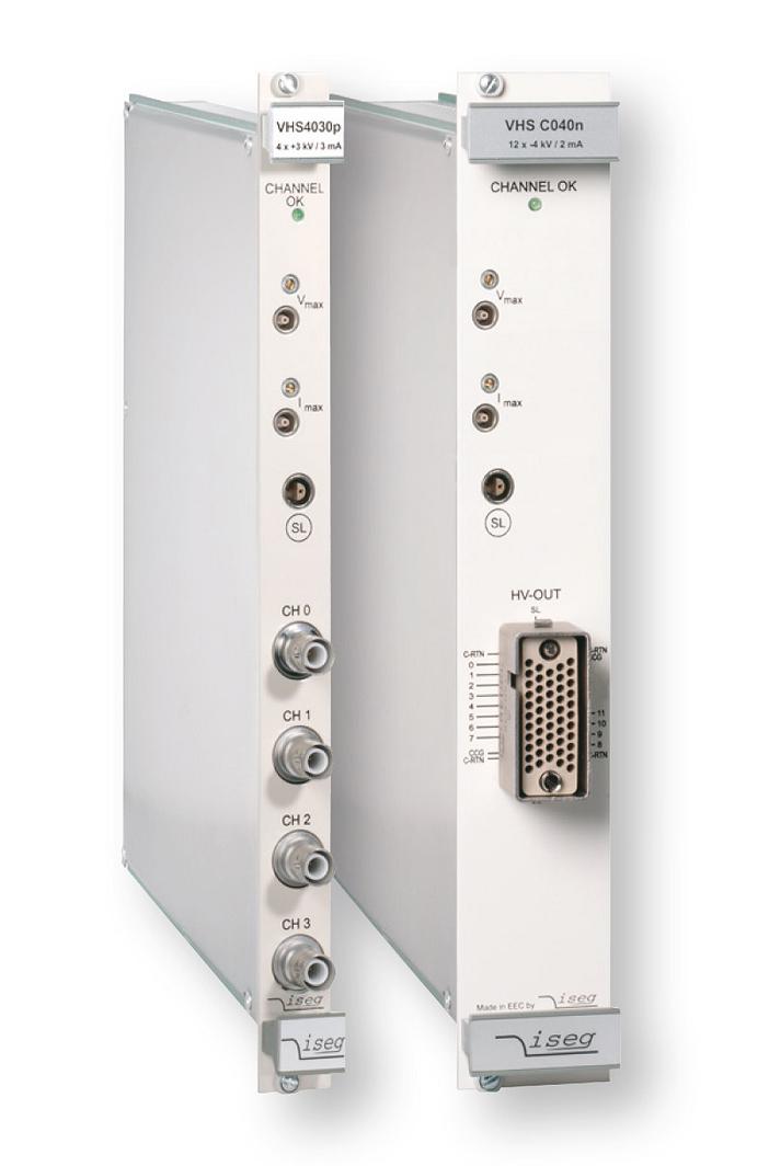 Modules haute tension VME64 série VHS ISEG