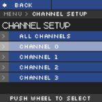 NHR Menu Channel Setup polarité commutable par électronique