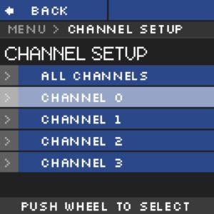 Module haute tension NHR Menu Channelsetup