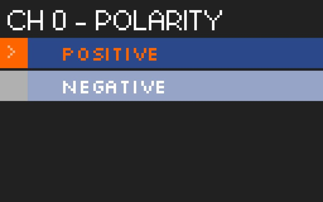 Polarité commutable par électronique