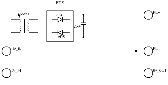 FPS Floating filament power supply basic scheme