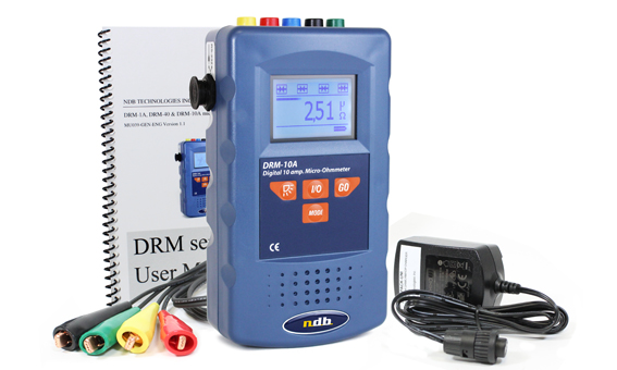 Micro ohmmeter with 1 A current intensity. Brand NdB Technology