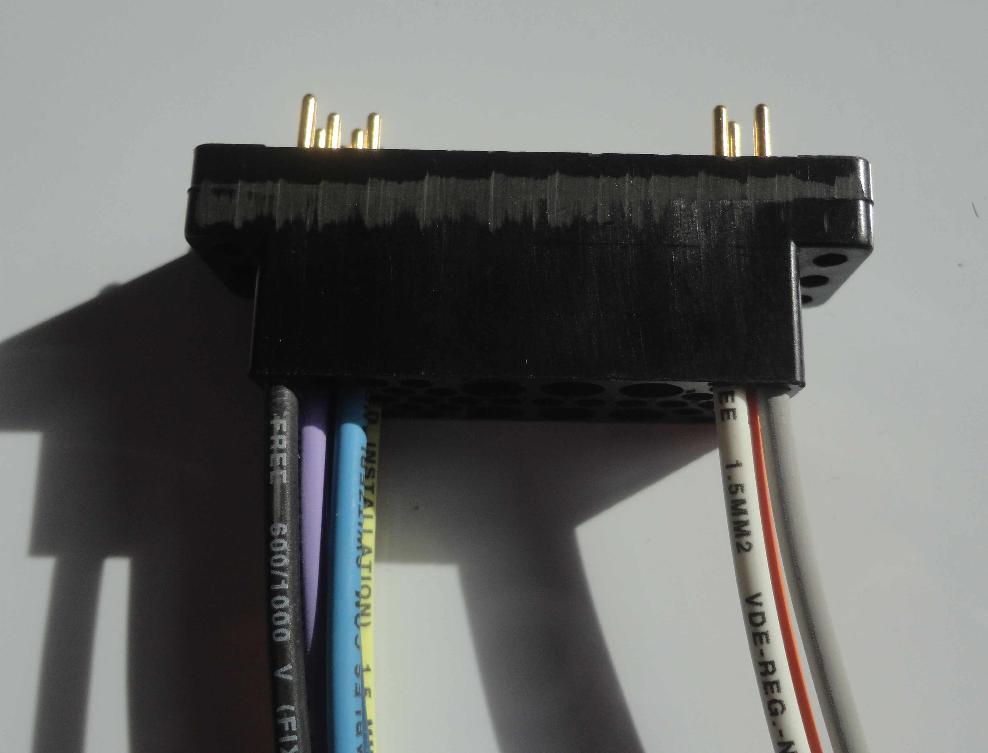 Couleur bleu noir blanc cablage connecteur NIM AMP
