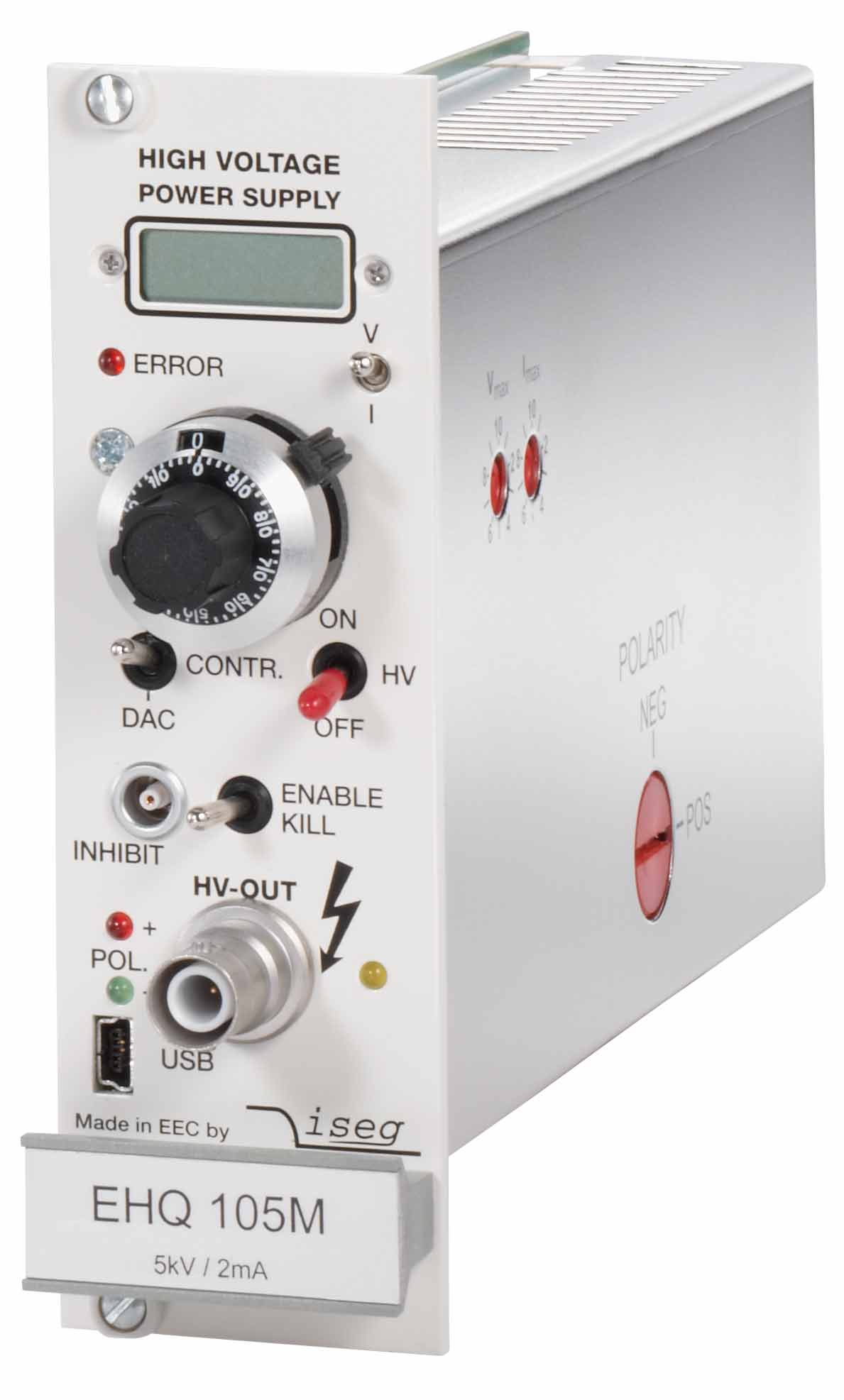 High Voltage Module EHQ1 Europe 3U ISEG Spezialelektronik GmbH